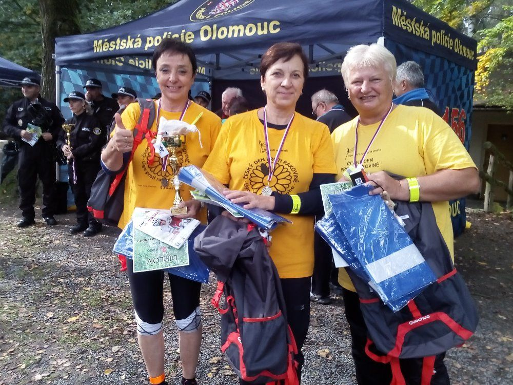 2. Branný závod seniorů na Sv. Kopečku - naše úspěšné členky